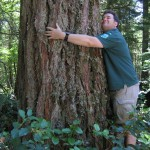 Treehuggers International founder Tommy Hough on the job at Federation Forest State Park.
